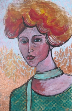 WOMAN WITH THE GREEN SCARF | 32x48 cm | 2016 *SOLD*